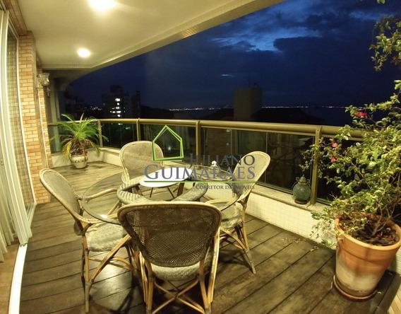 Excelente Apartamento Com Vista Panorâmica No João Paulo De 4 Dormitórios E 3 Vagas, Residencial À Venda, João Paulo, Florianópolis. - Ap00420 - 32283872