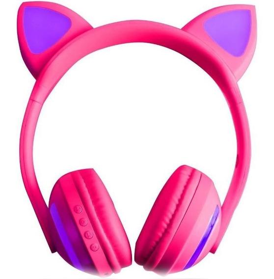 Fone Ouvido Headphone Com Fio Orelha Gatinho Infantil Led P2