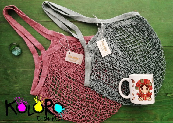 Bolsas De Red Asa Larga Playa/shopping/paseo
