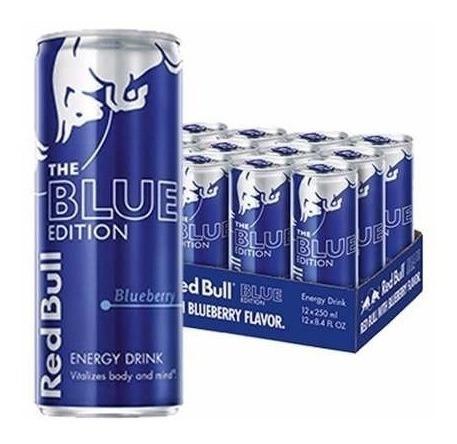 Red Bull Blue Edition Bebida Energetica 12 Pack