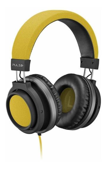Fone Ouvido Headphone Pulse Auxiliar P2 Ph229 Amarelo