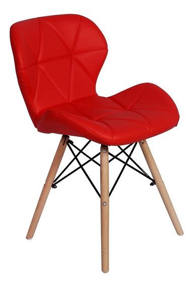 Cadeira Charles Eames Eiffel Slim Wood Estofada