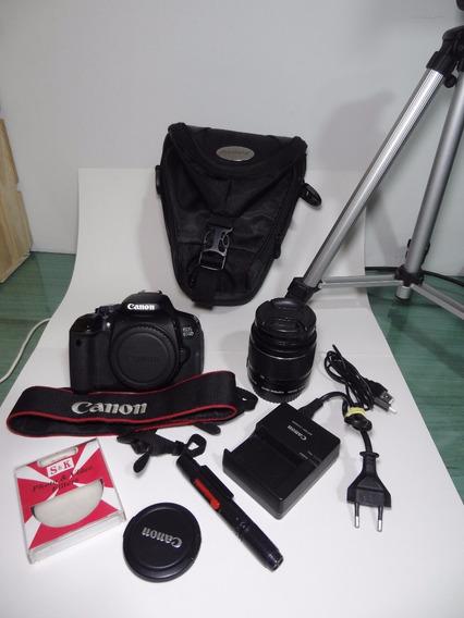 Canon 650d/t4i + 18-55 + Tripé + Bolsa + Filtro = Completa