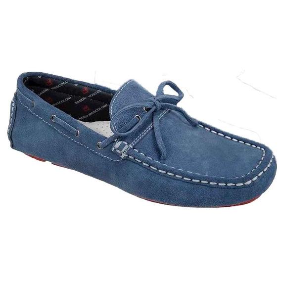 Sapato Masculino Driver Sandro Moscoloni Medford Azul Jeans