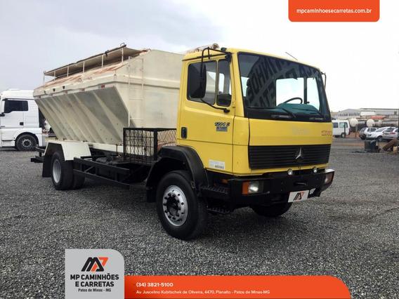 Caminhão 1214 Carroceria Silo Graneleiro Amarelo.