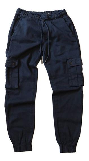 Pantalon Jogger Benzaa Cargo Gabardina Hombre