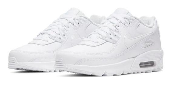 Nike Air Max 90 Leather Blancas Originales.las Mas Buscadas