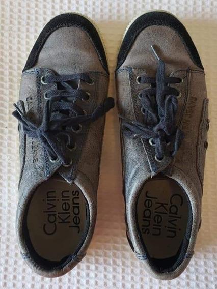 Tênis Casual Unissex - Marca Calvin Klein Jeans - Tam 35/36