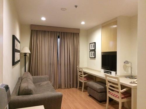 Imagem 1 de 30 de Flat Com 1 Dormitório Para Alugar, 35 M² Por R$ 3.300,00/mês - Moema - São Paulo/sp - Fl3790