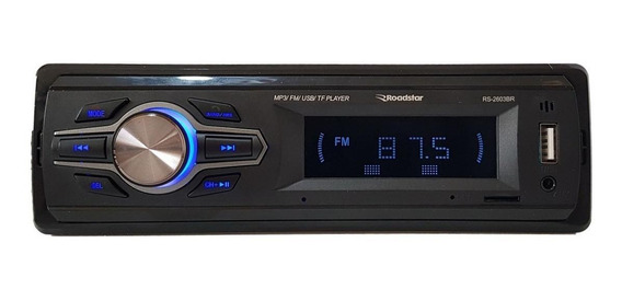 Som automotivo Roadstar RS-2603 com USB, bluetooth e leitor de cartão SD