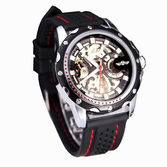 Relógio Mecânico Automático Winner Original Skeleton Barato