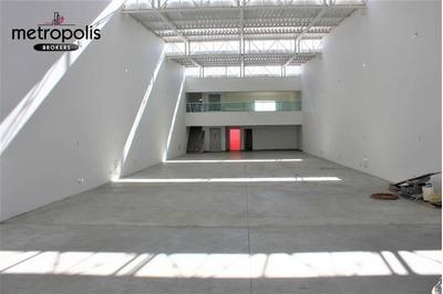 Galpão Para Alugar, 500 M² Por R$ 17.000/mês - Santa Paula - São Caetano Do Sul/sp - Ga0053