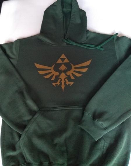 Sudadera Con Capucha Logo Zelda Hoodie Videojuego Link