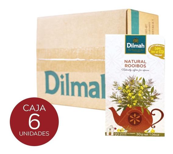 Infusión Dilmah Rooibos Natural Caja 6 Unidades.