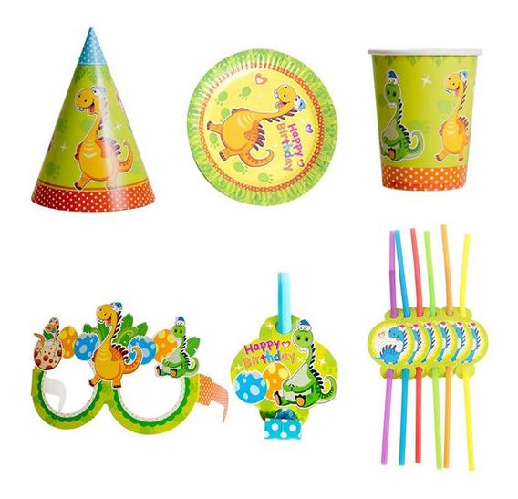 Set De Cumpleaños Dinosaurio Cotillon Niños Fiesta Infantil