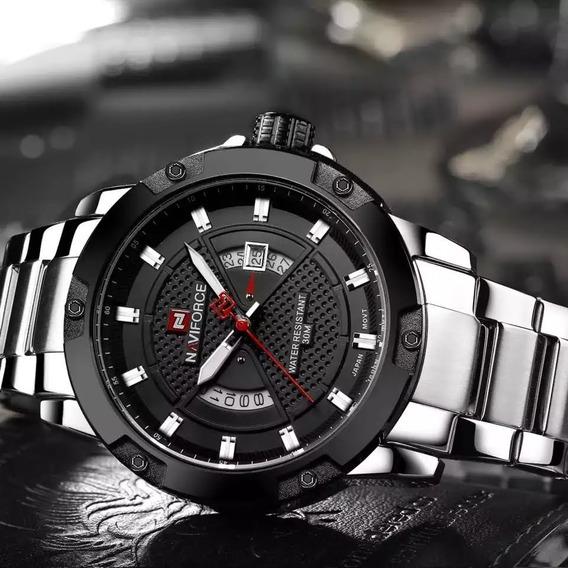 Relógio Naviforce Social Pesado Masculino Aço
