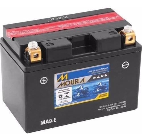 Bateria Moto Ma9-e Moura 9ah Yamaha Fzs1000 Fz1 T-max Xp500f