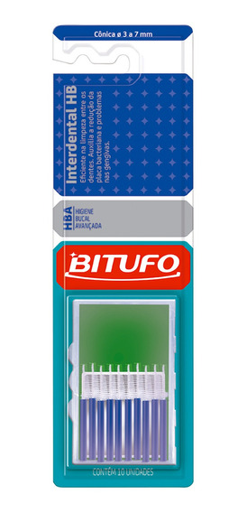 Escova Interdental Bitufo Cônica 3 A 7mm