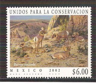 2002 Borrego Cimarrón Unidos La Conservación Sc 2250 Mnh.