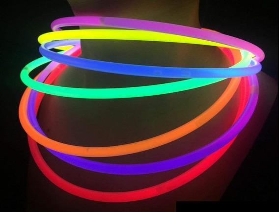 Collares De Neón Químicos Bicolor X 25 - Collar Luminoso