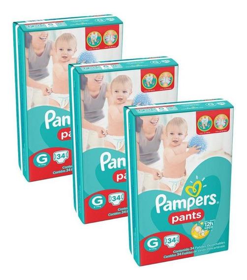 Kit Fralda Pampers Confort Sec Pants - G - 102 Unidades