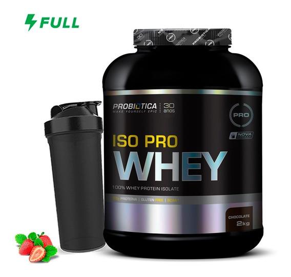 Iso Pro Whey ( Whey Isolado ) 2kg - Probiótica + Shaker