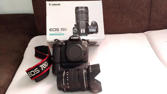 Câmera Fotografica Canon Eos 70d + Flash + Acessórios