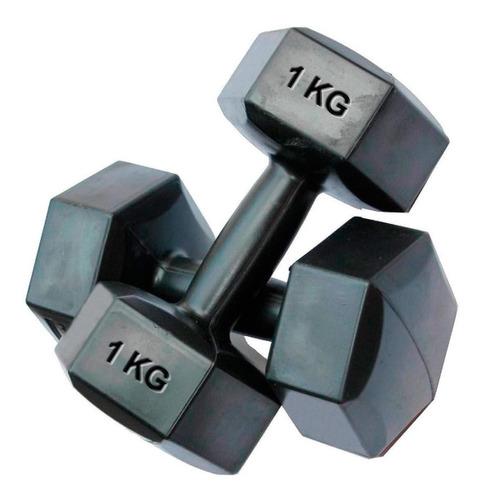 Mancuerna 1kg Revestida Pvc Pesa Fitness Rey Entretenimiento