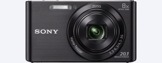 Câmera Digital Sony Dsc-w830 Preta - 20.1 Mp-8x - Lcd