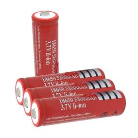 3x Bateria Recarregável Ultrafire 18650 5800mah 3,7v Li-ion