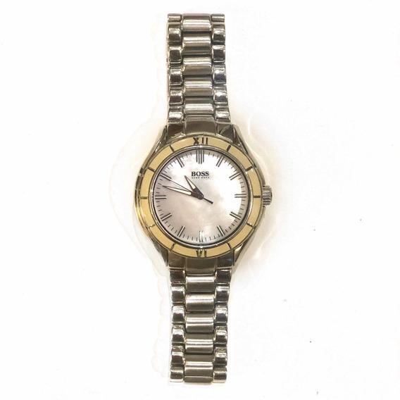 Relógio Hugo Boss Feminino Com Caixa Em Madre Pérola