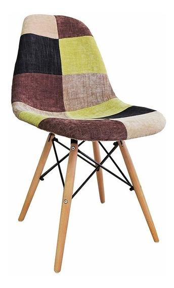 Cadeira Designer Charles Eames Dkr Design Eiffel Patchwork