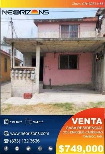 Casa En Venta Col. Enrique Cárdenas. Tampico, Tam. **oferta Única**