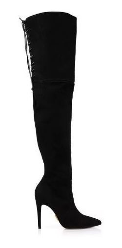 Bota Uza Over Nobuck Black