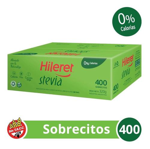 Endulzante Hileret Stevia. 400 Sobrecitos
