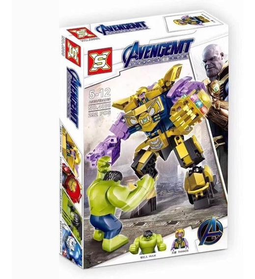 Thanos Avengers 292 Pçs Lego Robo E Nave 2 Em 1 Vingadores
