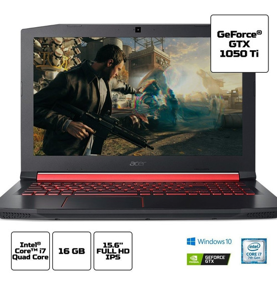 Notebook Acer Gamer Nitro 5 An515 Core I7 16gb 1tb 15,6 Fhd