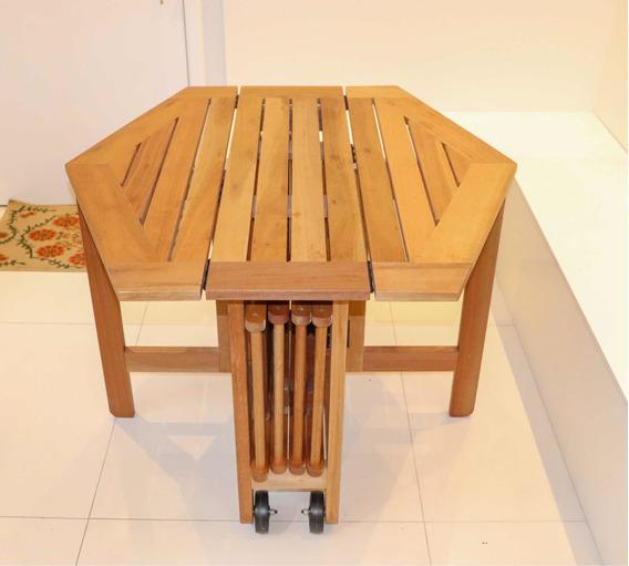 Mesa Madeira Natural + 4 Cadeiras