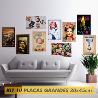 Kit 10 Placas Grandes Decorativas Laçamentos - Mdf - Laser