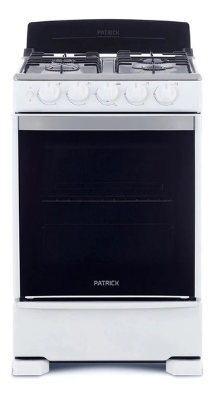 Cocina Patrick A Gas 55 Cm Blanca Cp6855b Cuotas Beiro