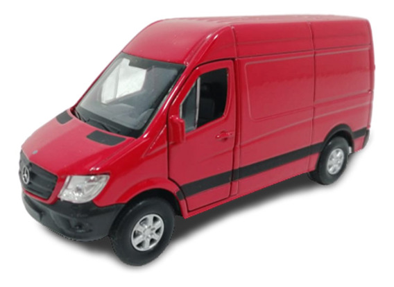 Camioneta Welly 1:36 Mercedes Benz Sprinter Roja 43730