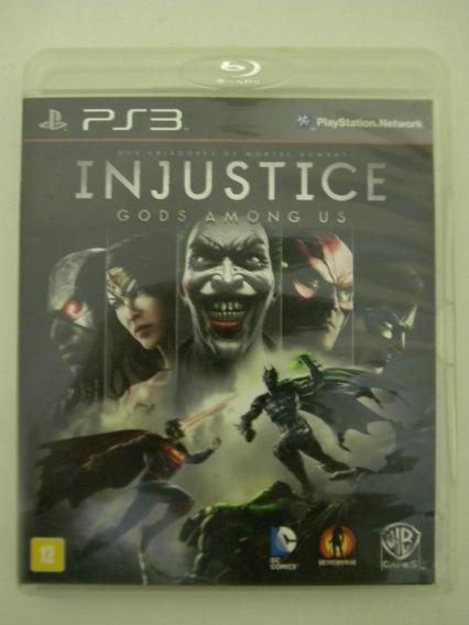 Injustice God Among Us Ps3 Mídia Física Original Impecável.