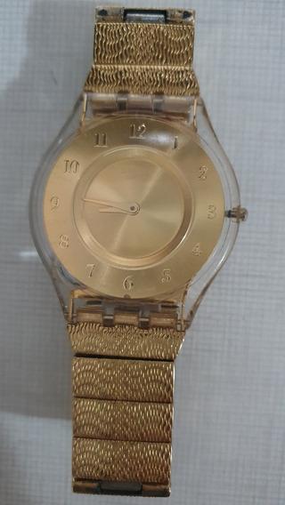 Relógio Swatch Warm Glow Dourado (sfk355g)