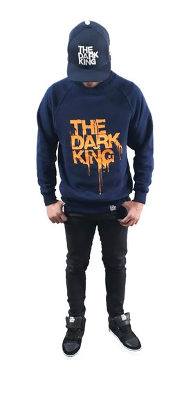 Buzo S/cap Talle Especial Skate Hip Hop Logo The Dark King