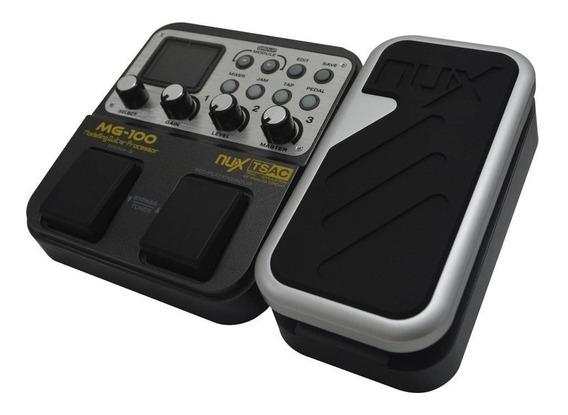 Pedal Pedalera Multiefecto Para Guitarra Nux Mg100 De Paquet