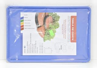 Tabla De Corte Gastronomica 20x30 Multiuso Azul