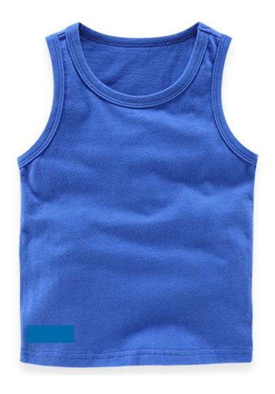 Camiseta Regata Infantil Kit 5 Peças