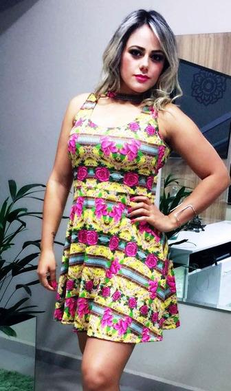 Vestido Estampado Boneca Princesa Rodado Roupas Femininas