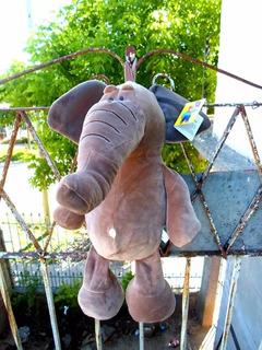 Combo De 2 Peluche Gigante Suave Para Bebés 60 Cm Elefante