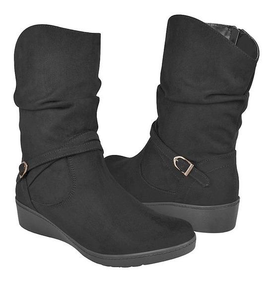 Botas Casuales Para Dama Stylo 0016-gd Negro